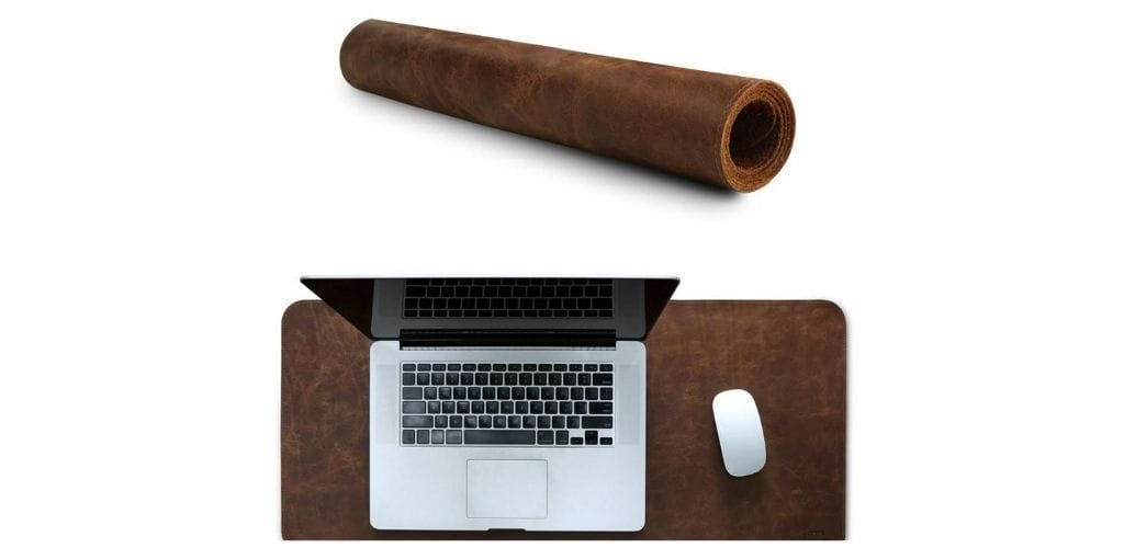 Personalized Fine Leather Extended, Large Mousepad