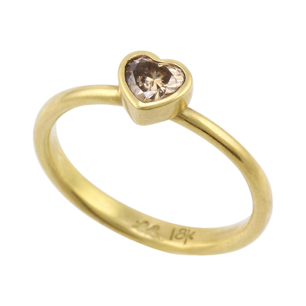 Champagne Sweetheart Ring