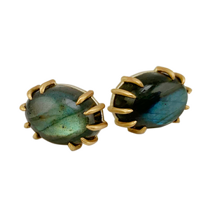 Labradorite Stud Earrings by Hannah Blount