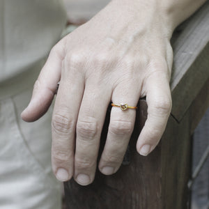 Load image into Gallery viewer, Champagne Sweetheart Ring by Lola Brooks