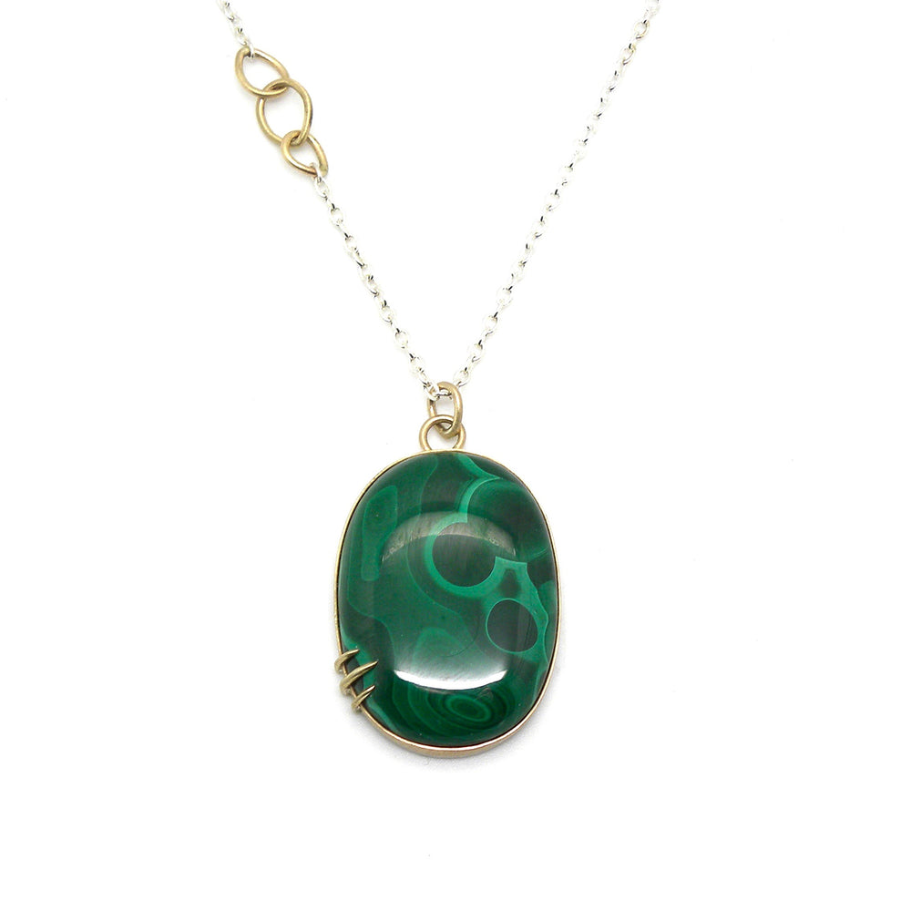 Nebula Malachite Necklace