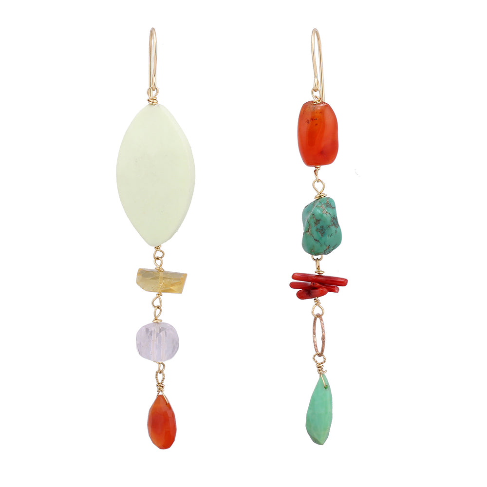 Assymetrical Drop Earrings