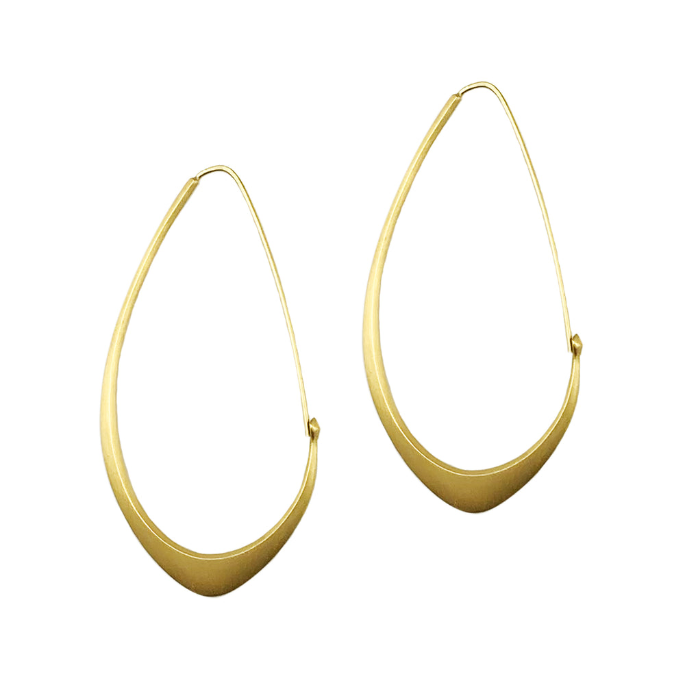 Large Facet Hoops
