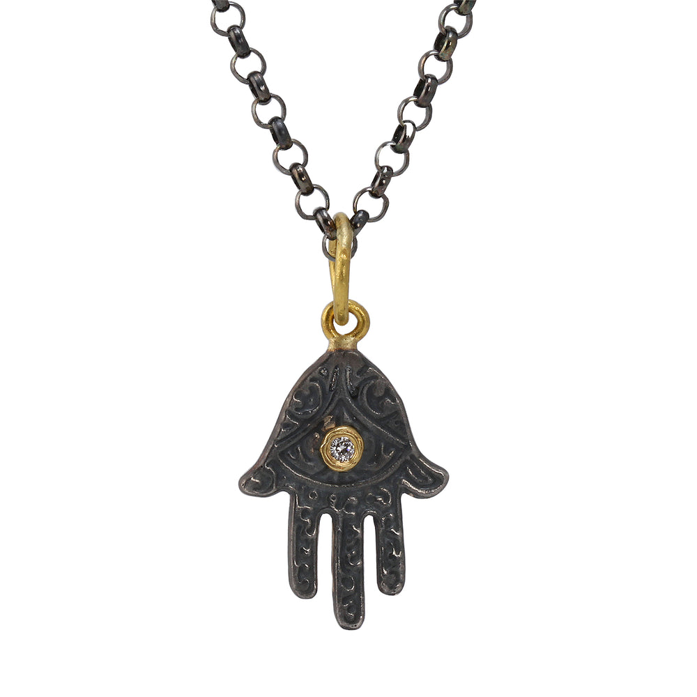 Load image into Gallery viewer, Small Hamsa Pendant
