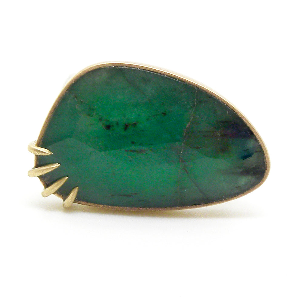 Huntress Emerald Ring by Hannah Blount