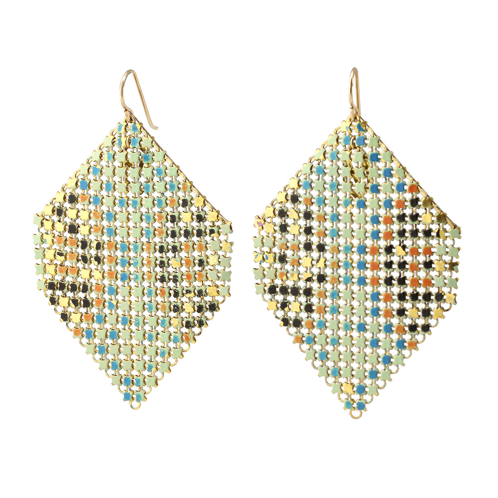 Extra Large Aqua Halo Earrings by Maral Rapp