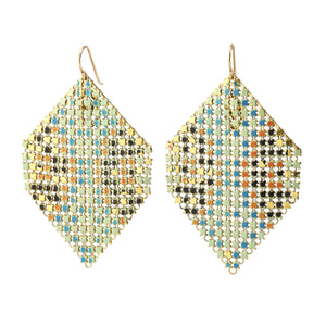 Load image into Gallery viewer, Extra Large Aqua Halo Earrings by Maral Rapp