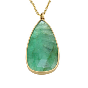 Load image into Gallery viewer, Emerald Drop Pendant by Lola Brooks