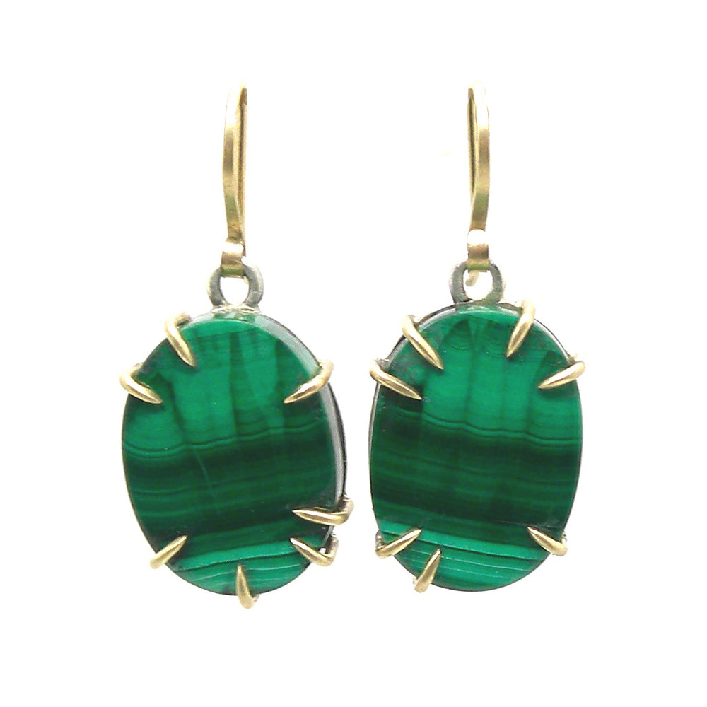 Fresco Malachite Earrings