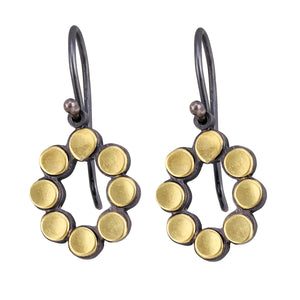 Oval Dot Earrings by Elisa Bongfeldt