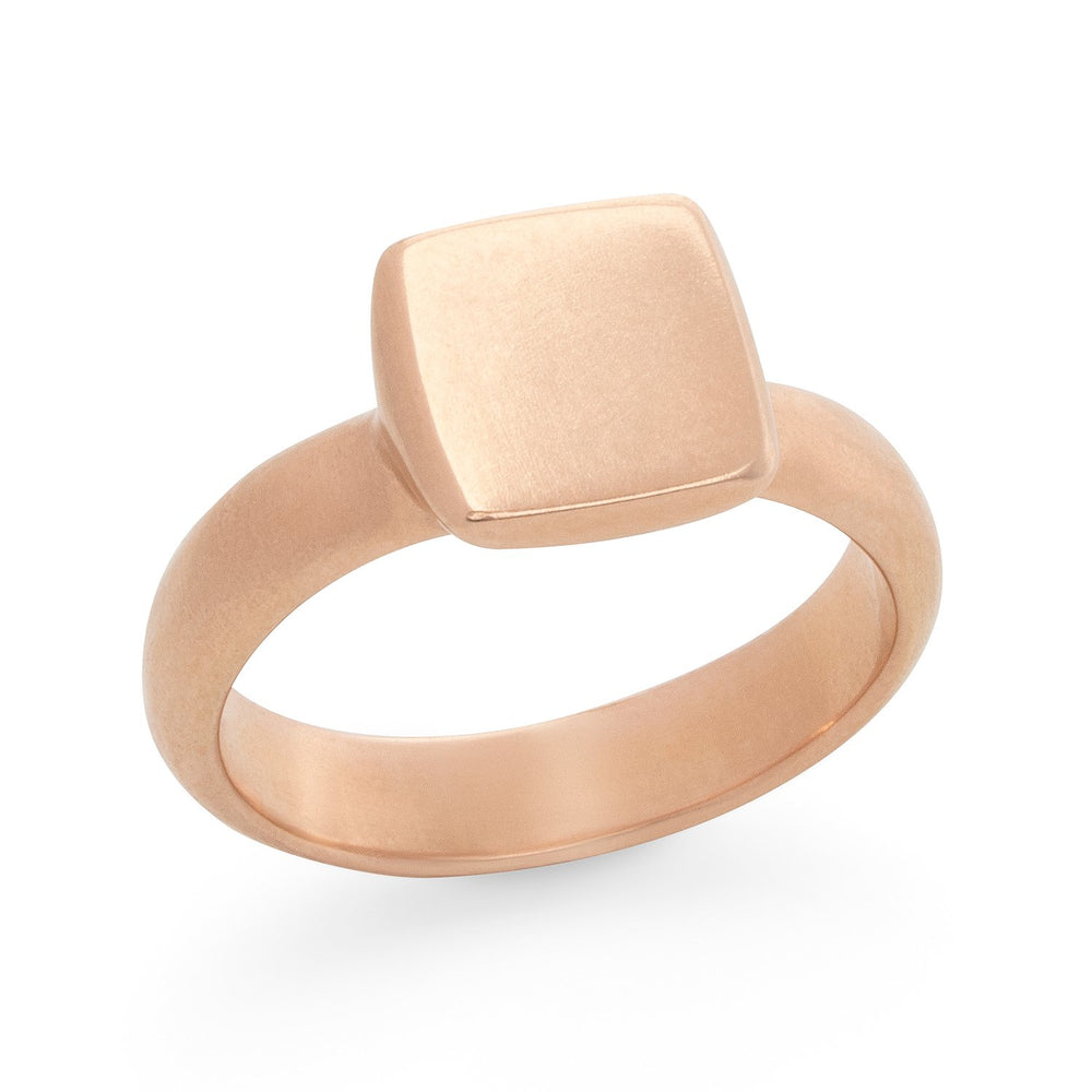 Square Signet Ring - Rose, by Betsy Barron Jewellery