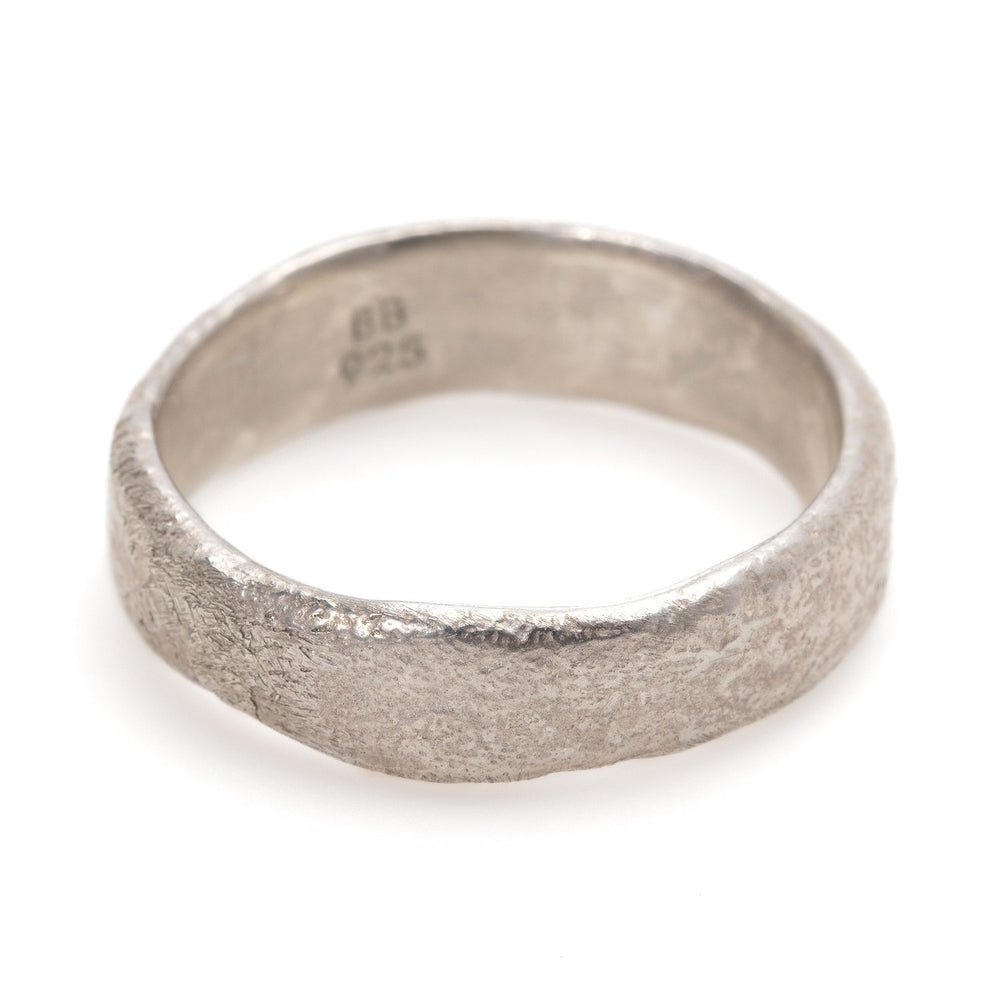 Wide Molten Band - White, by Betsy Barron Jewellery