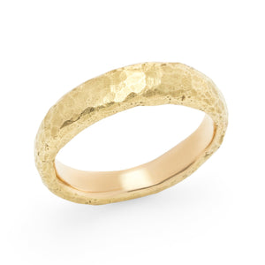 Load image into Gallery viewer, Narrow Hammered Band - Yellow