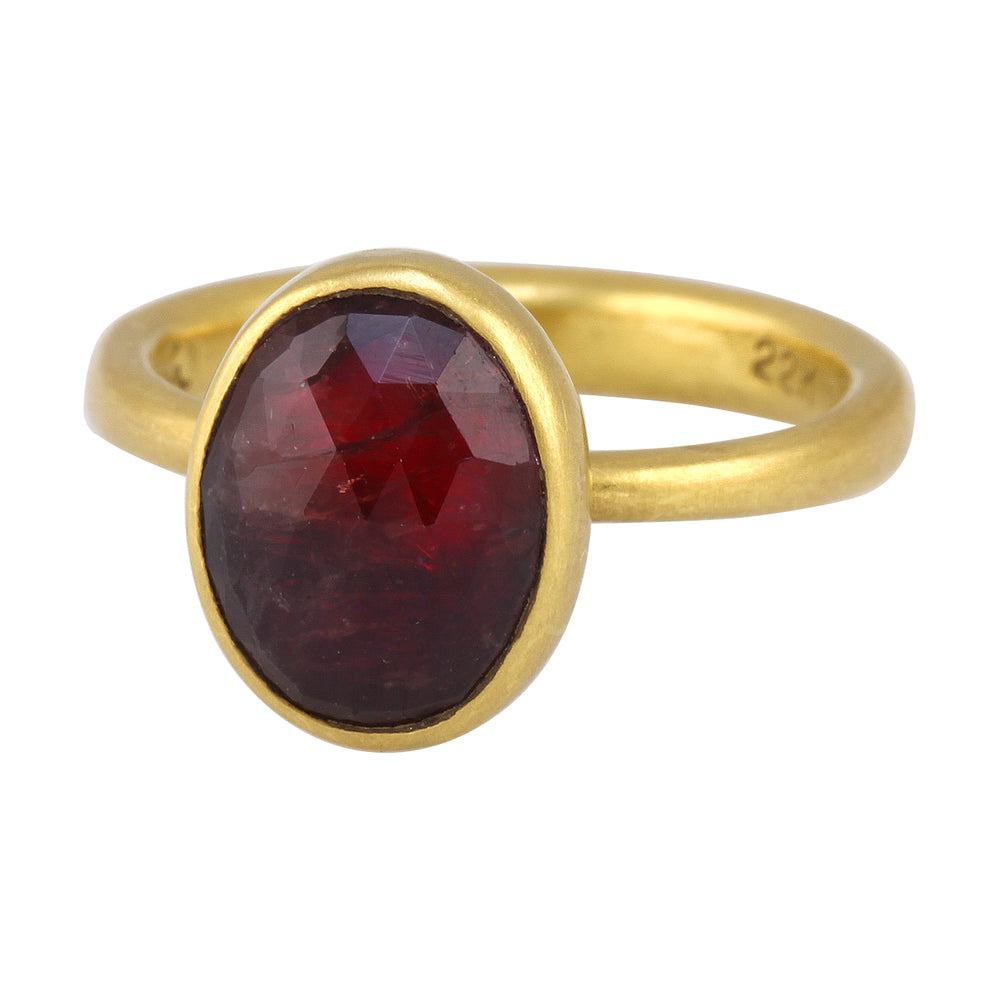 Oval Natural Red Sapphire Ring