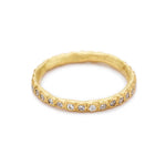Beaded Eternity Band - Yellow
