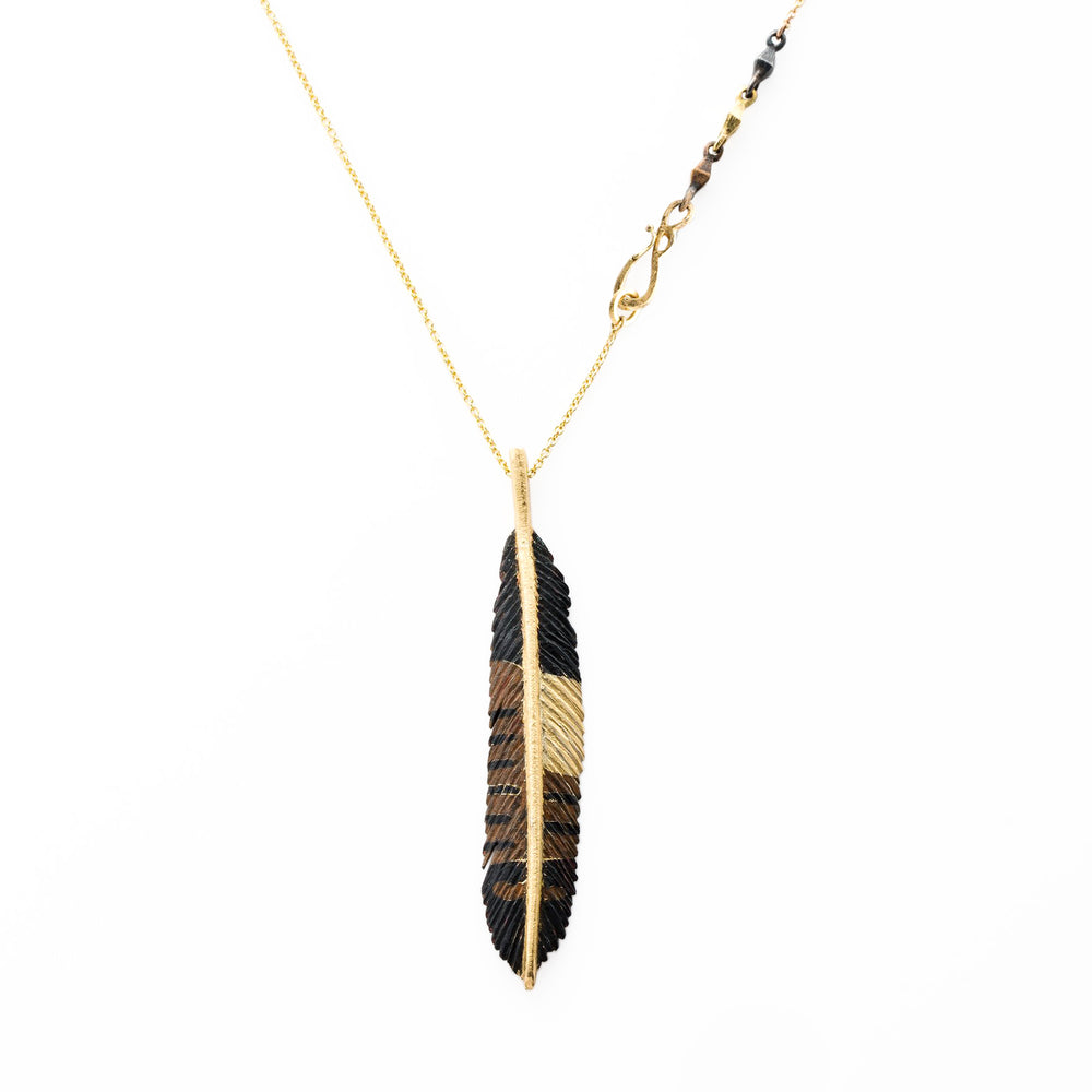Pheasant Feather Necklace by James Banks
