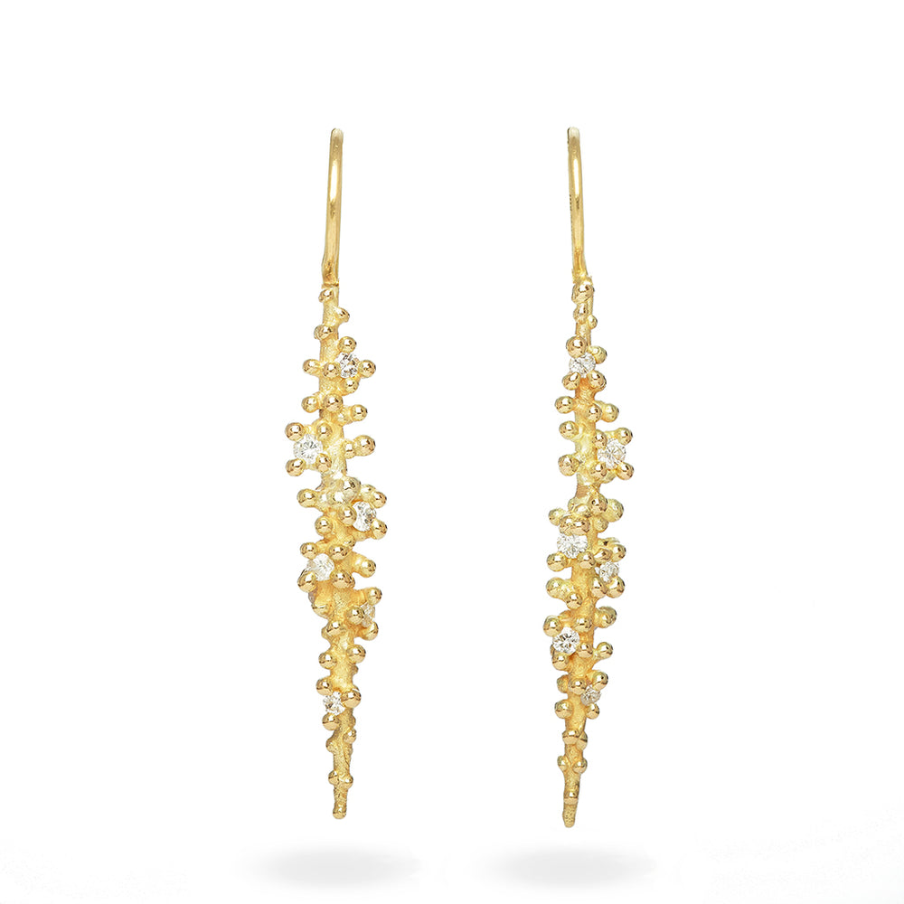 Load image into Gallery viewer, Long Diamond Drop Earring