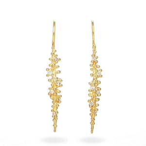 Long Diamond Drop Earring