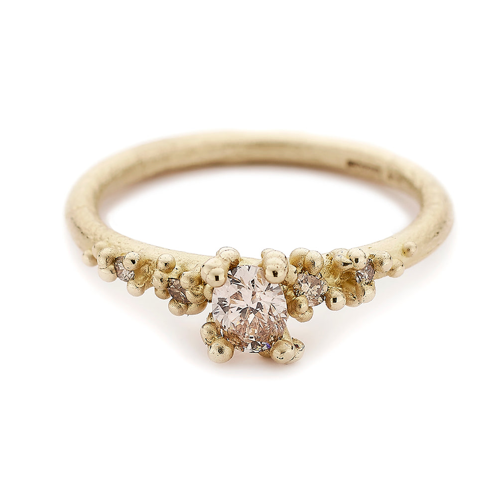 Champagne Solitaire Diamond Ring