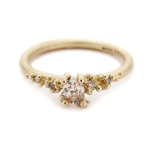 Champagne Solitaire Diamond Ring by Ruth Tomlinson