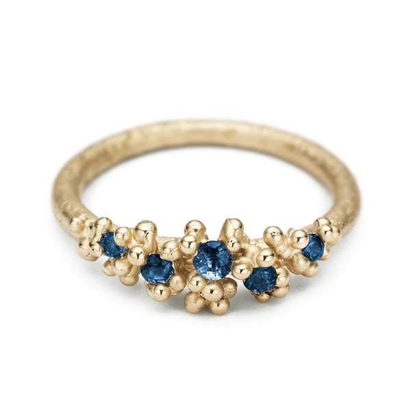 Small Sapphire Ring with Granules