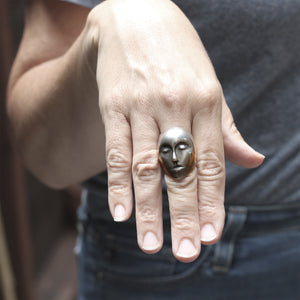 Load image into Gallery viewer, Grand Grey Lady Ring by Hannah Blount