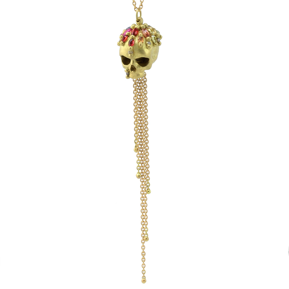 Enchanted City Skull Necklace by Polly Wales