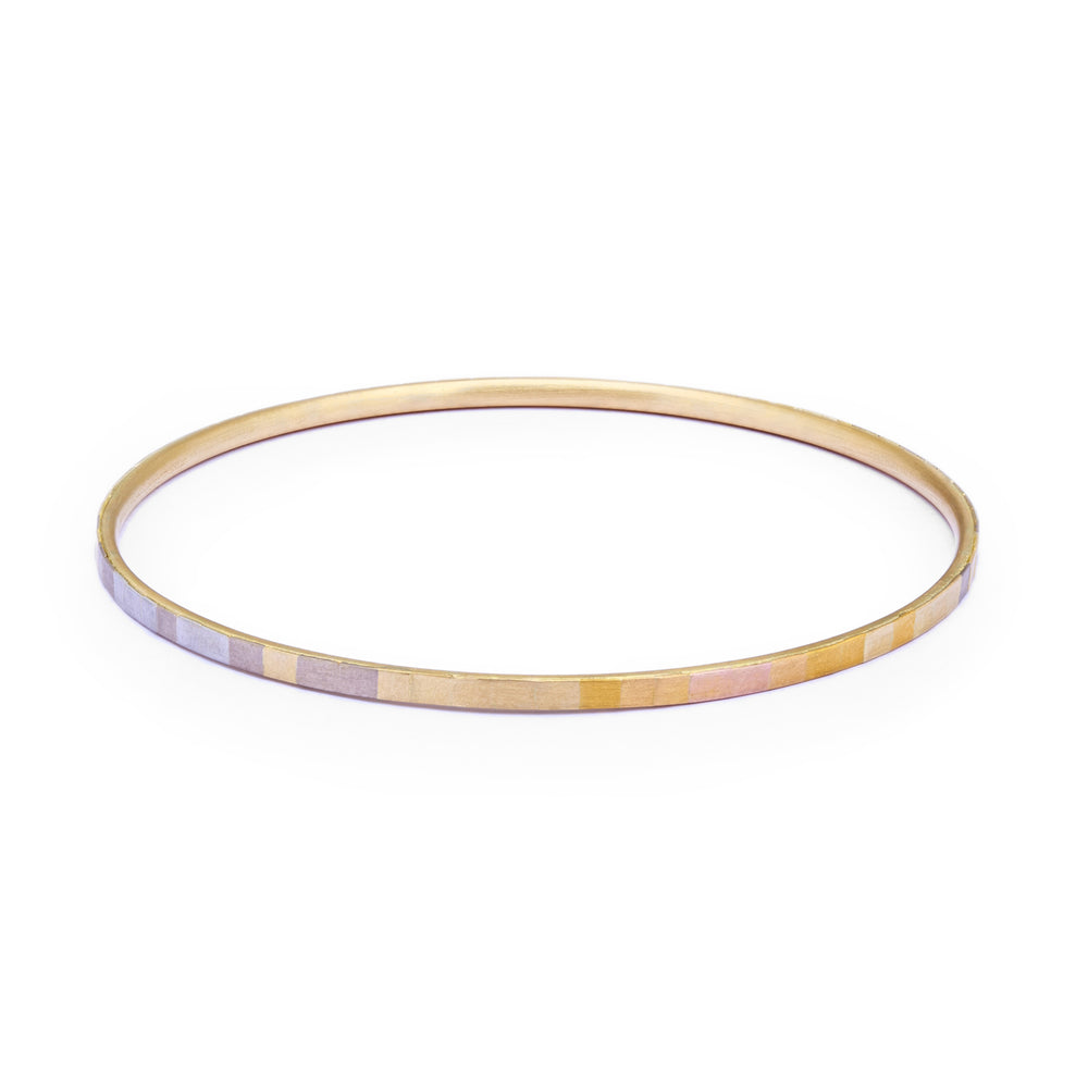 Rainbow Horizon Faceted Bangle by Sia Taylor