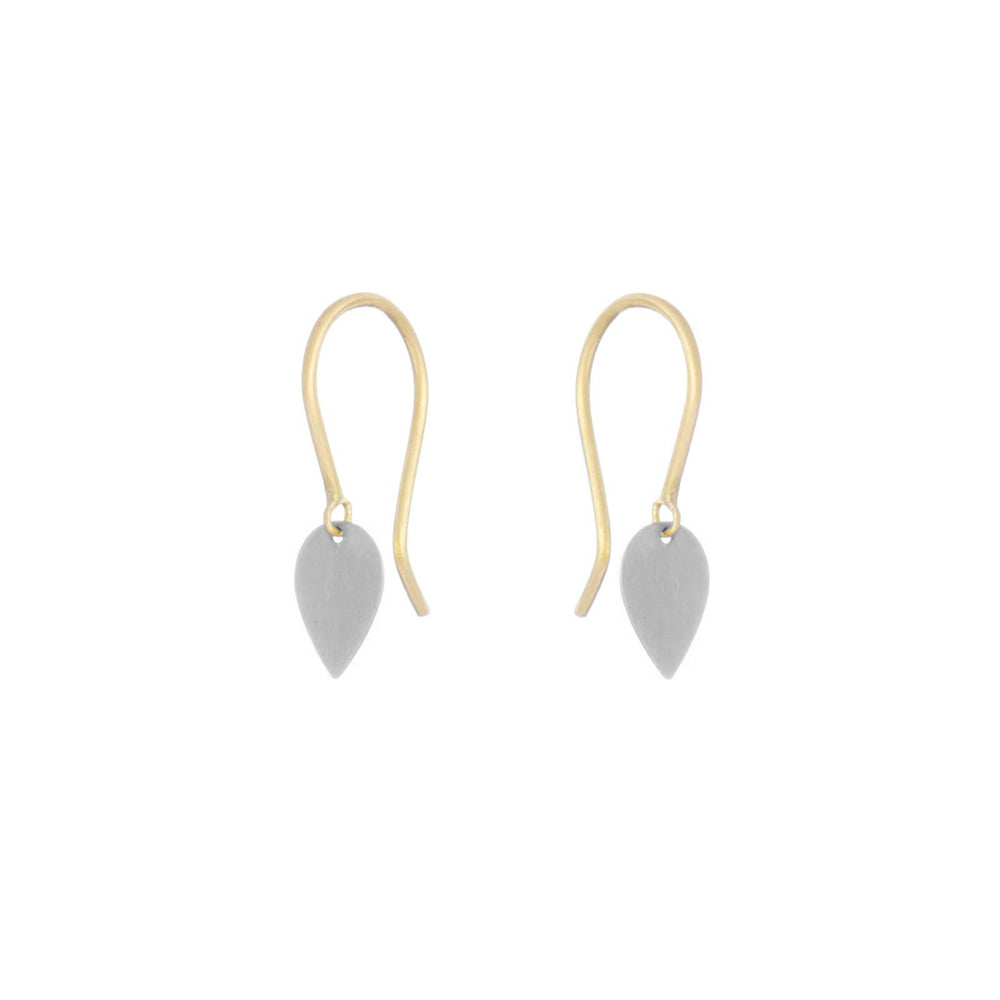 Tiny Petal Earrings - Platinum