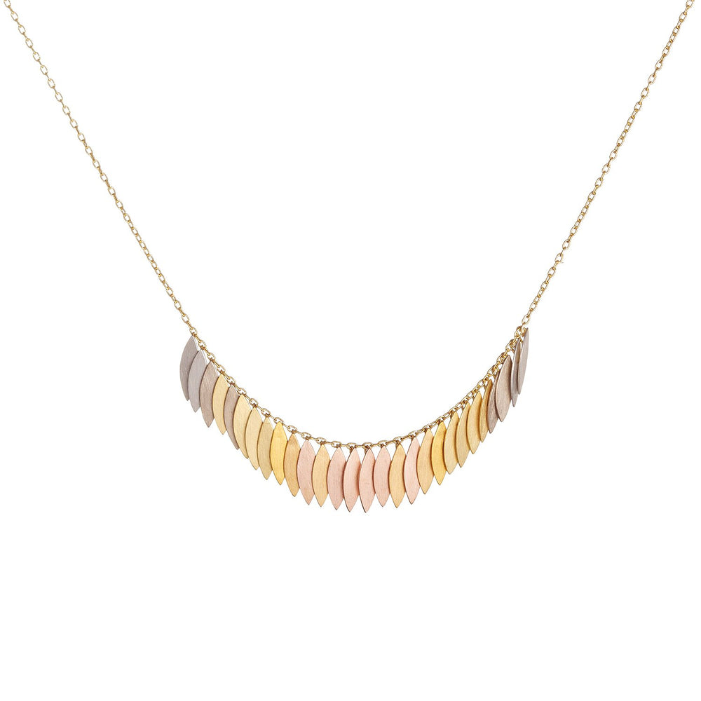 Rainbow Gold Leaf Arc Necklace by Sia Taylor