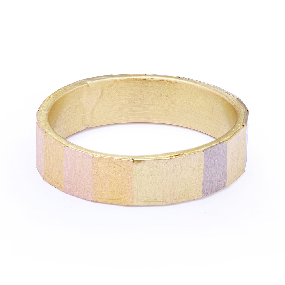 Load image into Gallery viewer, 5mm Faceted Rainbow Band by Sia Taylor
