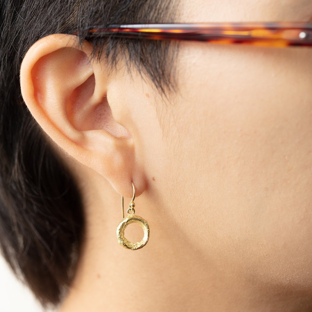 Load image into Gallery viewer, Organic Donut Earrings