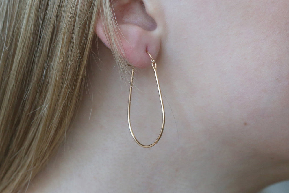 Medium Elongated Valance Hoops  by Tura Sugden
