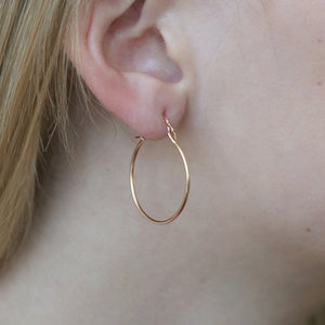 Small Valance Hoop Earring by Tura Sugden