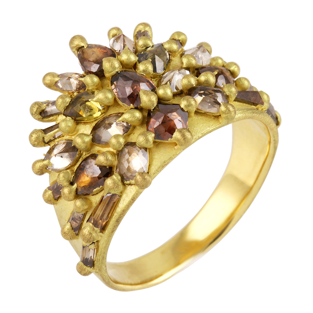 Marpessa Spring Half-Shield Ring