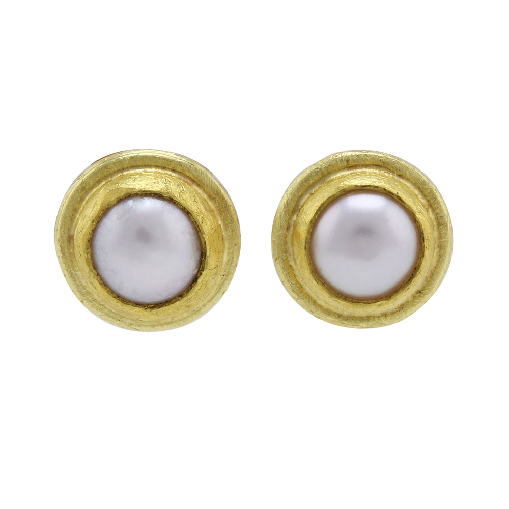 Framed Cultured Pearl Earrings