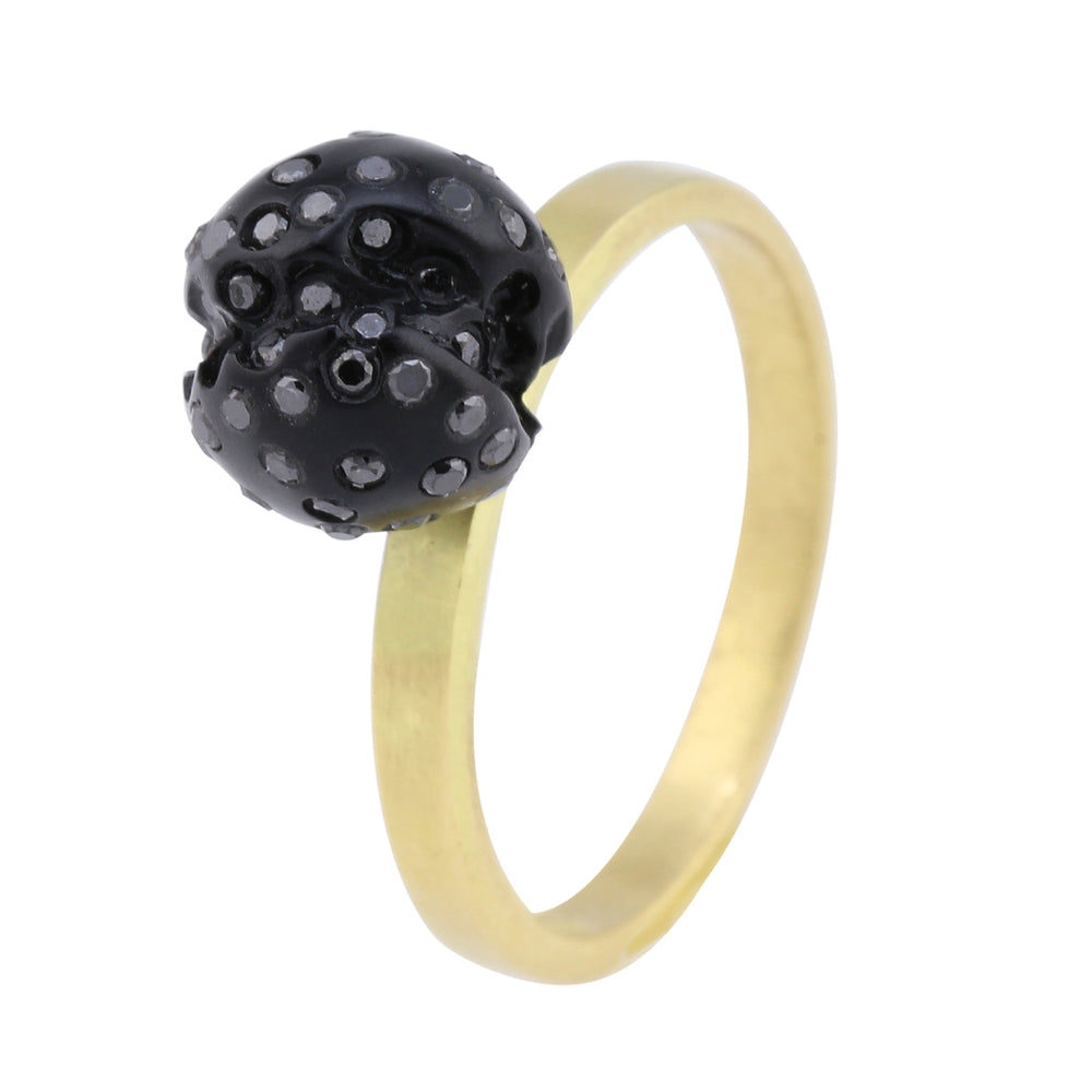 Whitby Jet Ball Top Cocktail Ring by Jaqueline Cullen