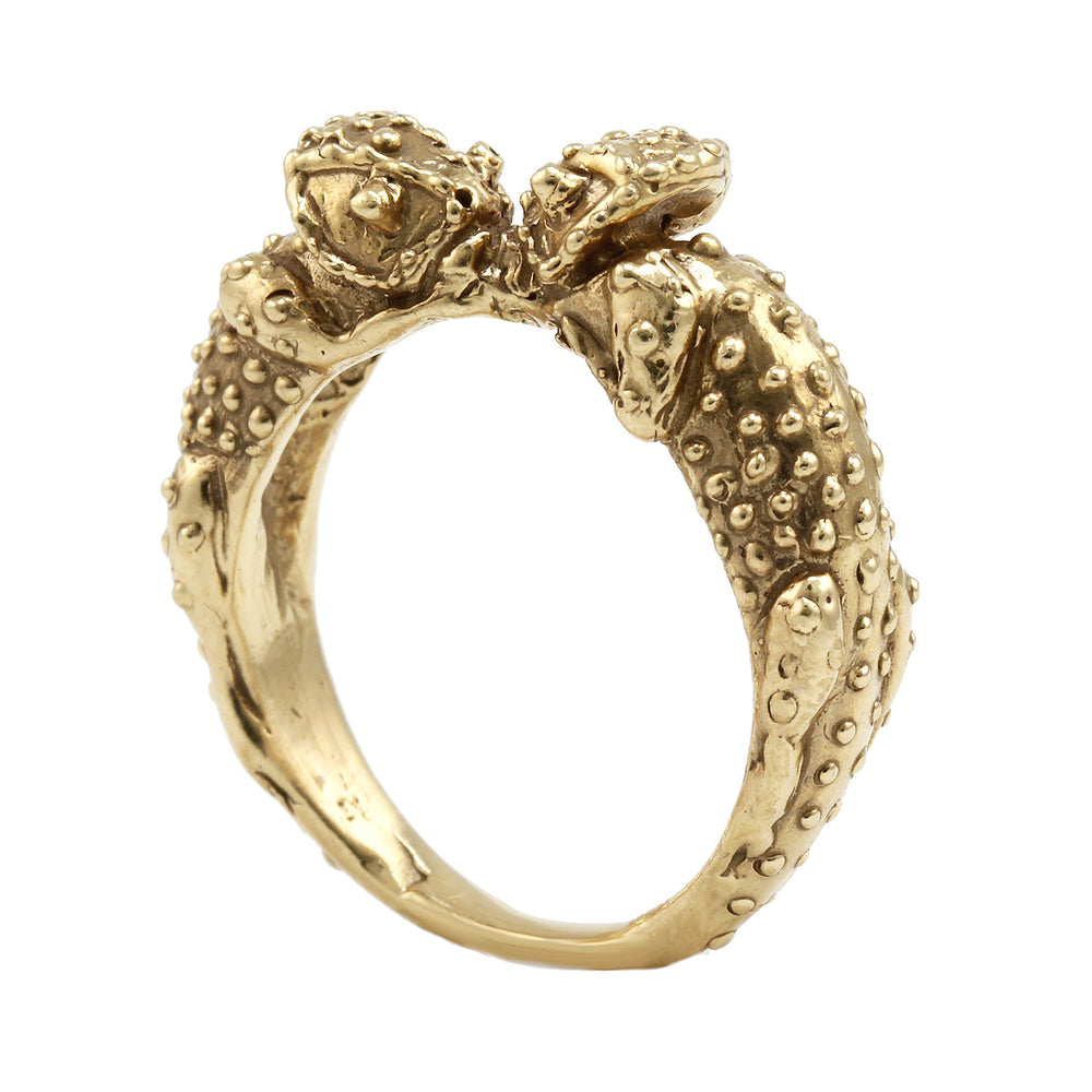 Kissing Chameleon Ring by Alexis Pavlantos