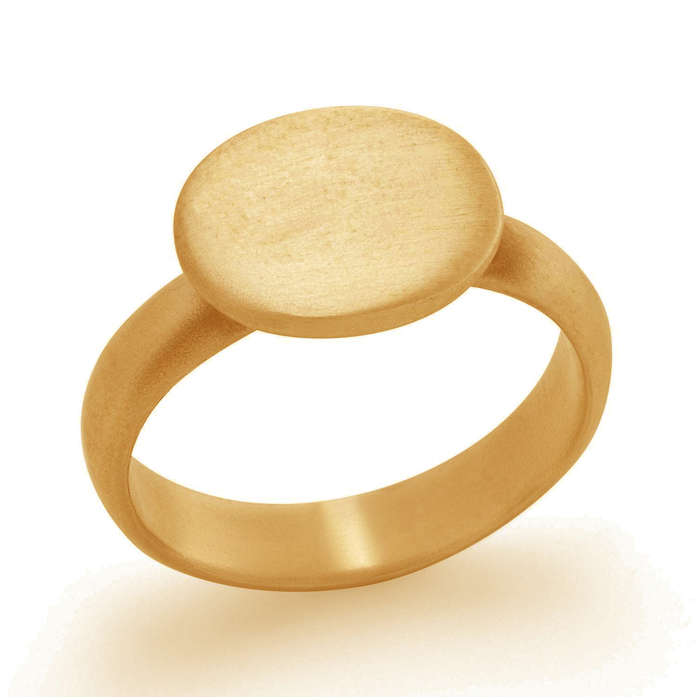 Horizontal Oval Signet Ring 18ky