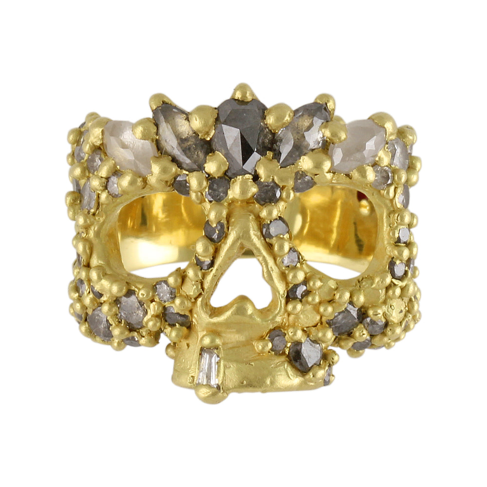 Autumn Moon Skull Ring