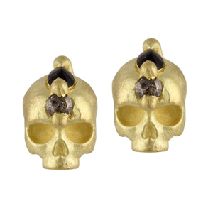 Island of Shrines Skull Studs by Polly Wales