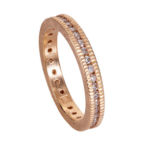Channel-set Coin Edge Eternity Band by Todd Reed