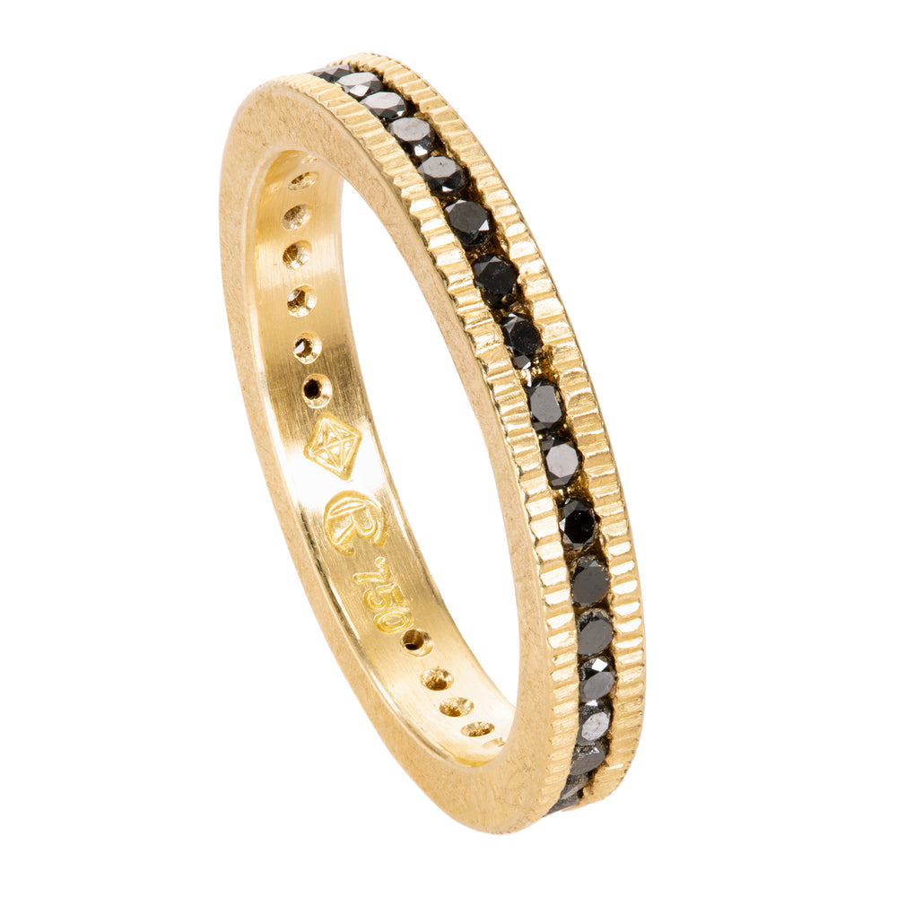 Coin Edge Eternity Band - Yellow