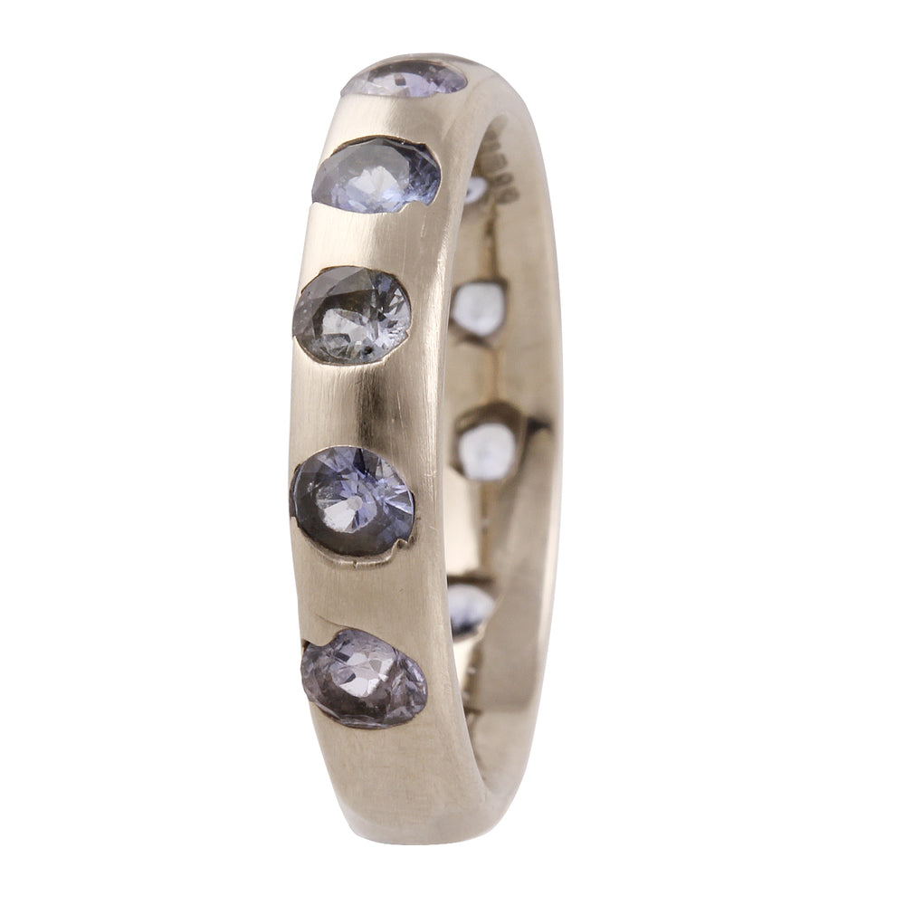 Load image into Gallery viewer, White Gold Crystal Band by Polly Wales