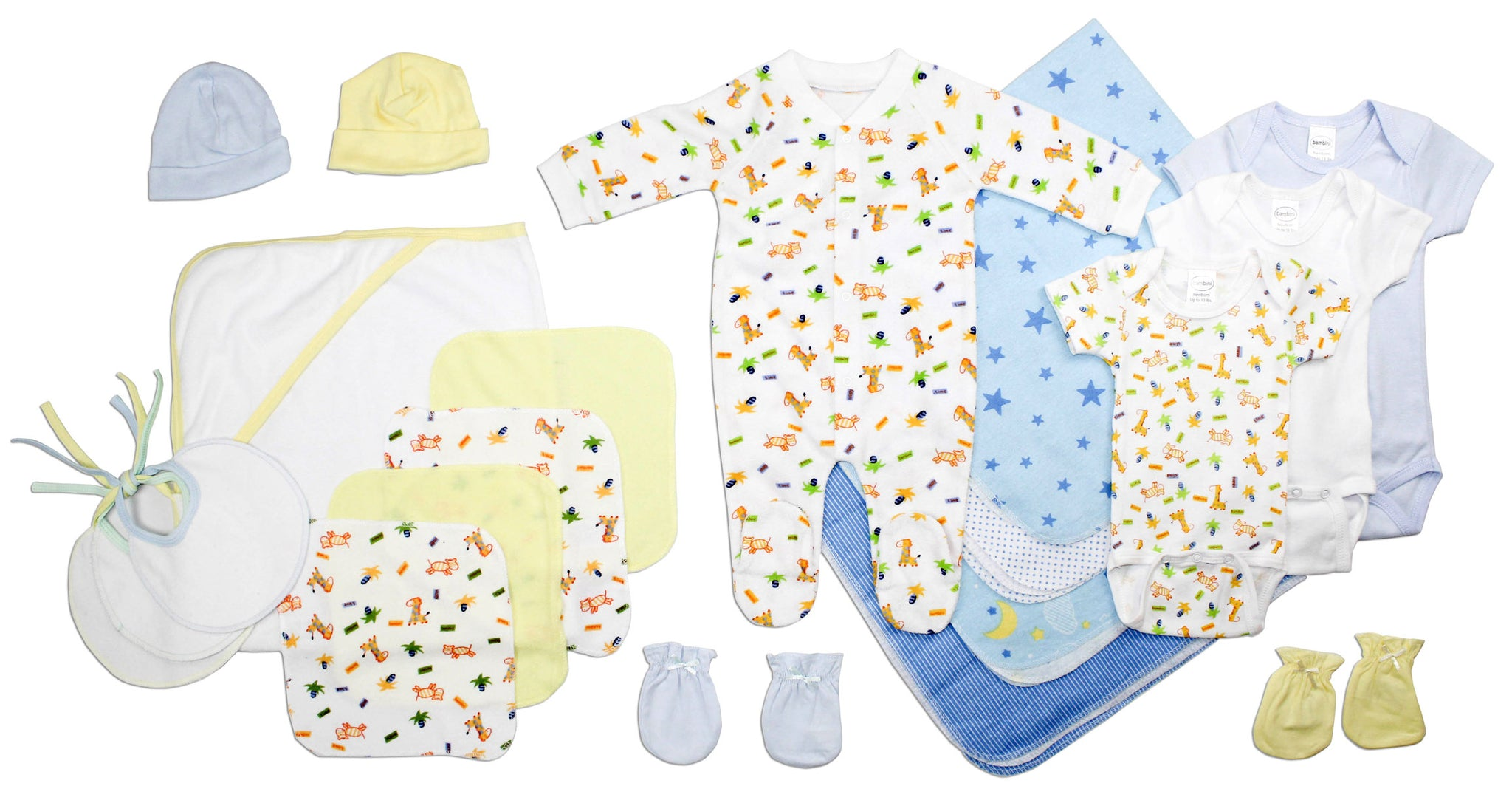 Newborn Baby Boy 21 Pc Layette Baby Shower Gift Set