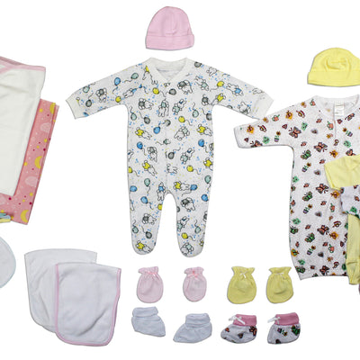 Bambini Newborn Baby Girls 20 Pc Layette Baby Shower Gift Set