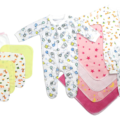 Bambini Newborn Baby Girls 14 Pc Layette Baby Shower Gift Set