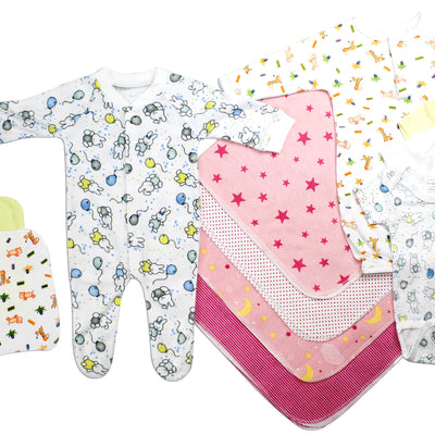 Bambini Newborn Baby Girls 13 Pc Layette Baby Shower Gift Set