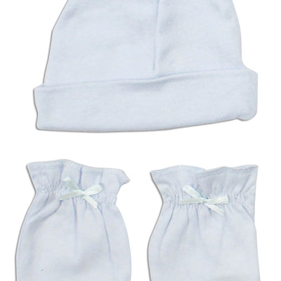 Bambini Boys' Cap and Mittens 2 Piece Layette Set