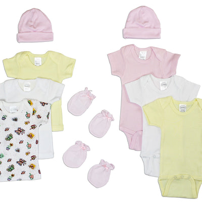 Bambini Newborn Baby Girls 10 Pc Layette Baby Shower Gift Set